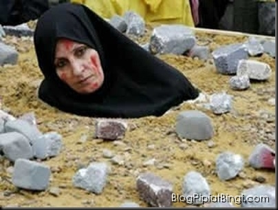 woman stoned to death